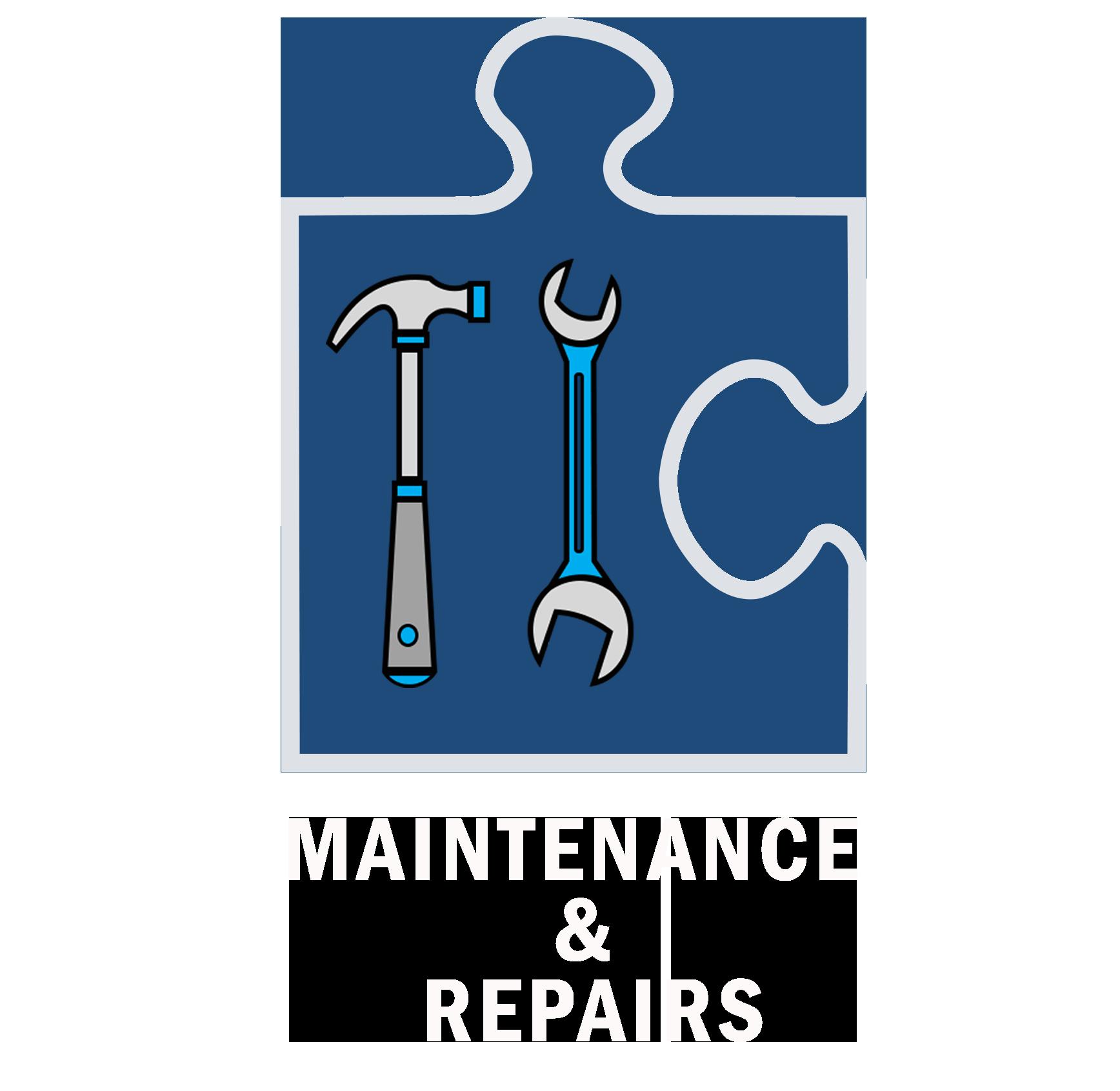 Maintenance & Repairs White Text